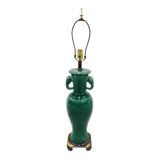 Vintage Green Ceramic Lamp