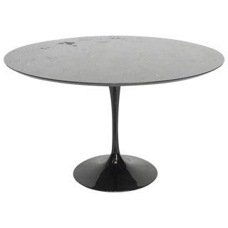 Eero Saarinen Style Black Marble Tulip Dining Table
