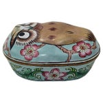 Image of Cantonese Hand-Painted Enamel Owl Box