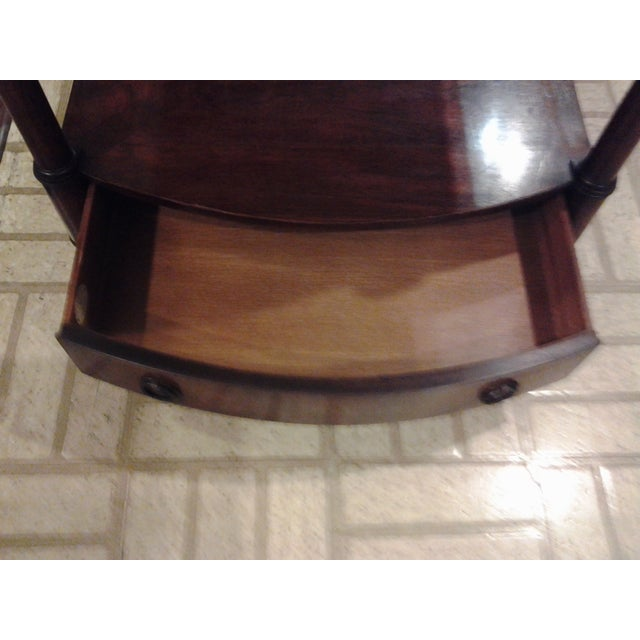Image of Baker Furniture Shelf End Table With Single Drawer