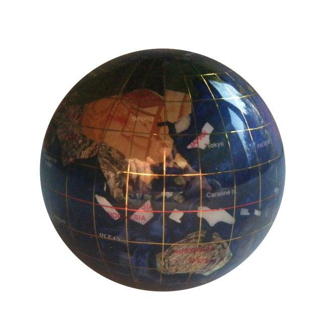 Image of Lapis Lazuli Globe Paperweight