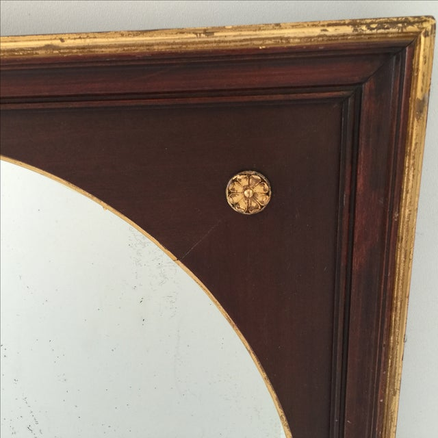 Image of Antique Gilt Mahogany Oval Mirror