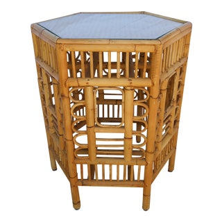 Bamboo Chinoiserie Accent Table