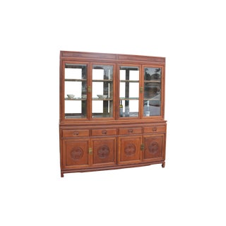 Solid Rosewood Cabinet and Buffet/China Hutch