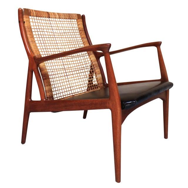 Danish Modern Cane Back Armchair - Image 1 of 8