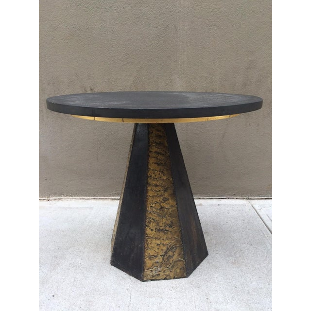 Paul Evans Round Slate Top Table - Image 3 of 7
