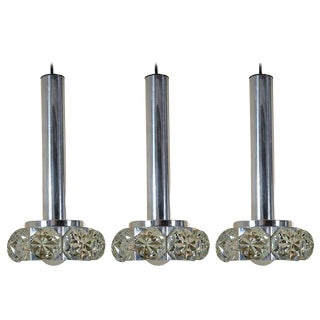Three Silver Plate and Cut Crystal Pendants