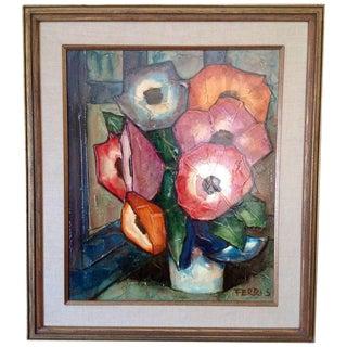Impasto Floral Still Life by Ferris