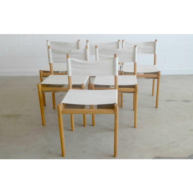 Danish Modern White Dining Chairs - Set of 6 - Image 2 of 10