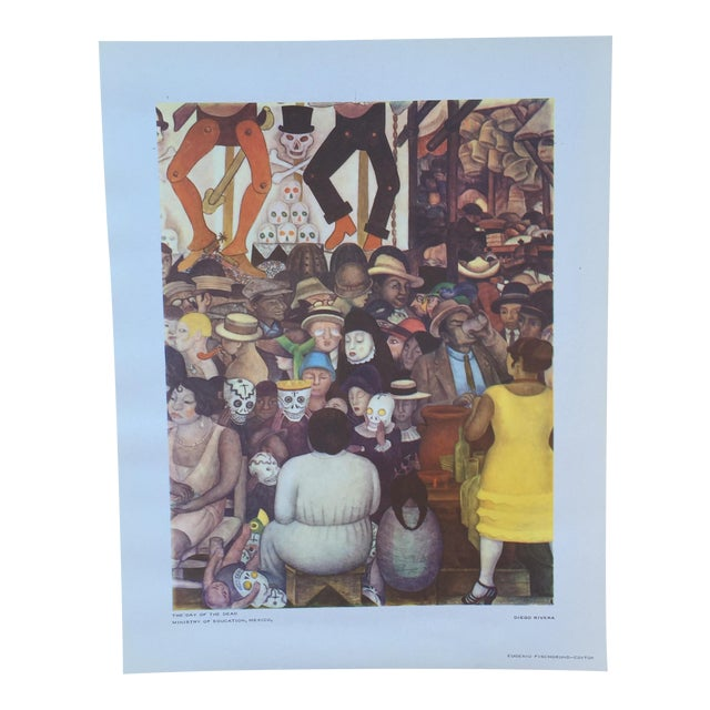 Rare 1946 Diego Rivera Lithograph - Image 1 of 7