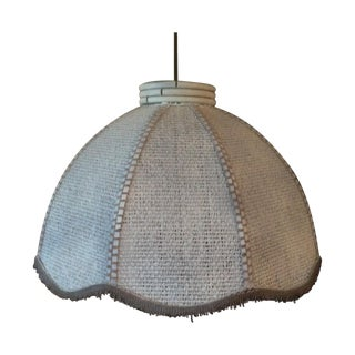Vintage Wicker & Rattan Pendant Light