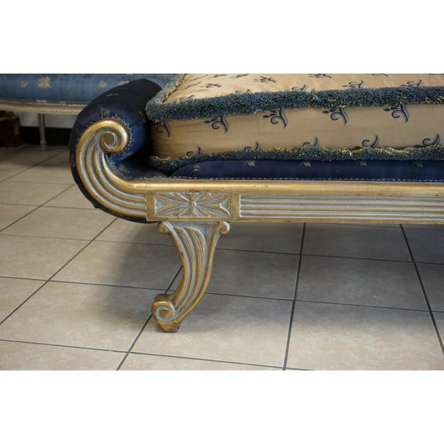 Vintage Hand Carved Chaise Lounge - Image 8 of 11