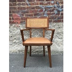Image of Mid-Century Changebak Cane & Wood Accent Chair