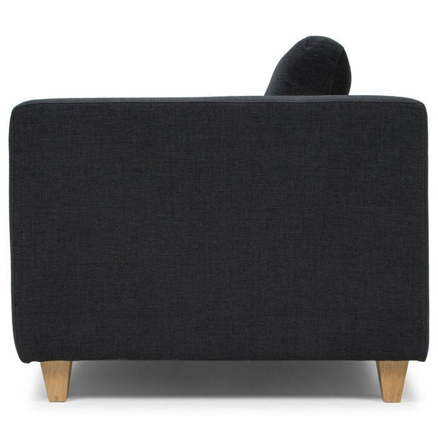 Sarreid LTD Modern Black Sofa - Image 5 of 5