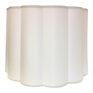 Two Barbara Barry Simple Scallop Pendant Fixtures