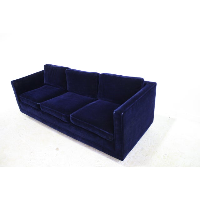 Ward Bennett Sofa in Navy Blue Mohair by Brickell - Image 3 of 7
