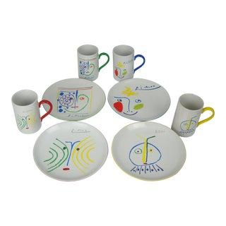 Picasso Mugs & Plates, by Masterpiece Editions, Ltd. - 8 Pieces