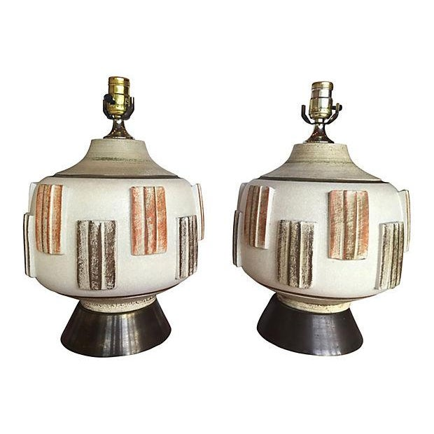 Mid-Century Modern Table Lamps - A Pair - Image 1 of 4