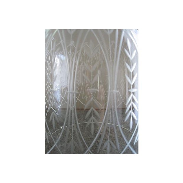Vintage Etched Glass Nesting Domes - S/2 - Image 5 of 8
