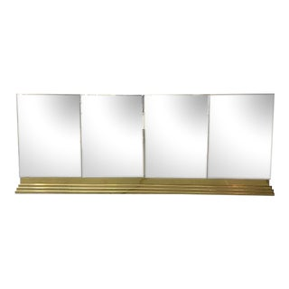 Brass Accented Mirrored Credenza