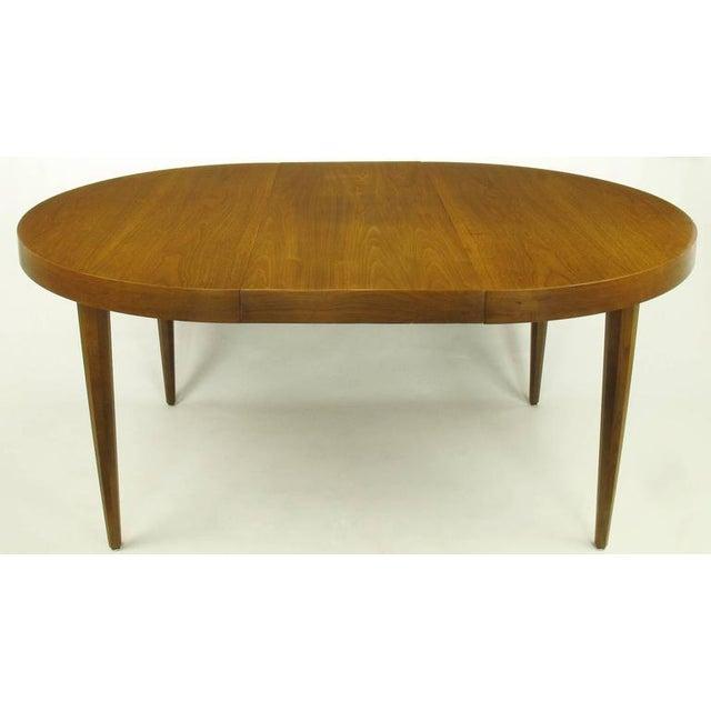 Sleek Modern Walnut Dining Table in the Style of T.H. Robsjohn-Gibbings - Image 4 of 7