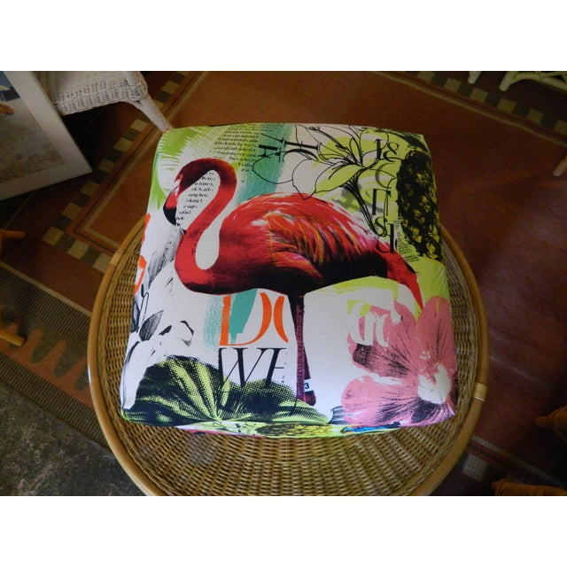 Palm Beach Regency Custom Upholstered Ottoman - Image 6 of 7