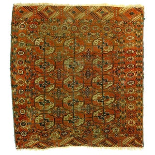 "19th C Turkoman Tekke Rug - 3'9"" x 4'0"""