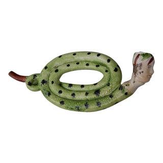 "English Pottery ""Coiled"" Snake Pipe, Circa 1810"