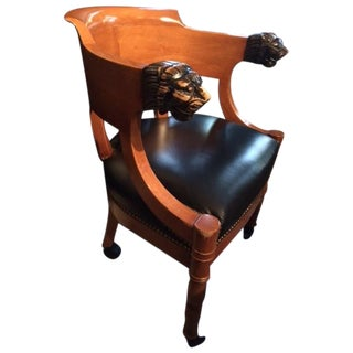 st laurent desk chair antique leather office chair