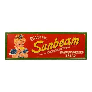 Vintage Sunbeam Bread Sign With Miss Sunbeam