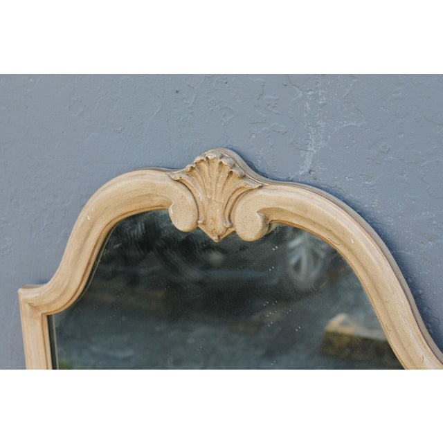 Traditional Off White Carved Wall Mirrors - A Pair - Image 7 of 9