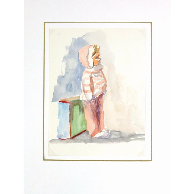 Image of Vintage French Doll Watercolor Painting