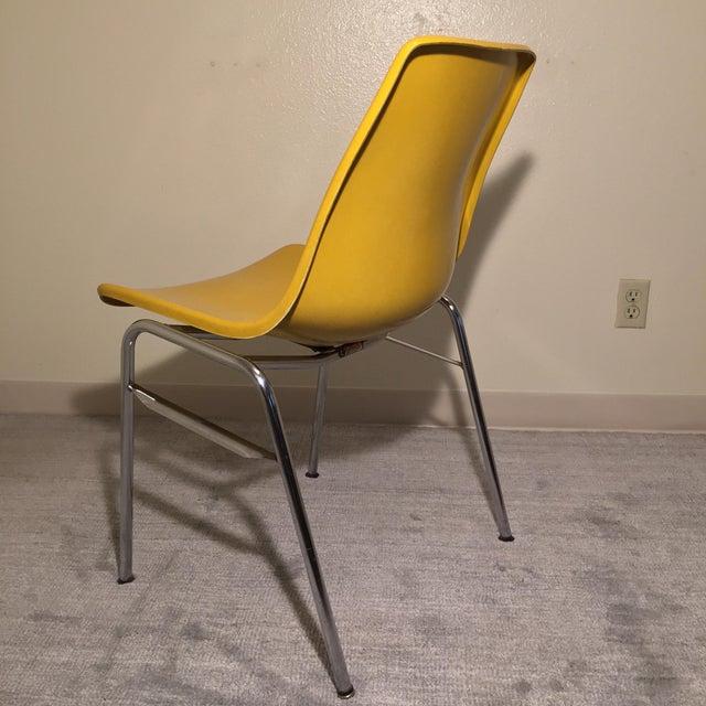 Image of MCM Fiberglass Stack Chair in Horseradish - 6
