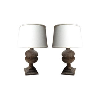 Sculptural Lamp and Shade - Set of 2