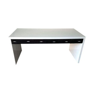Vintage White Lacquer Parsons Desk