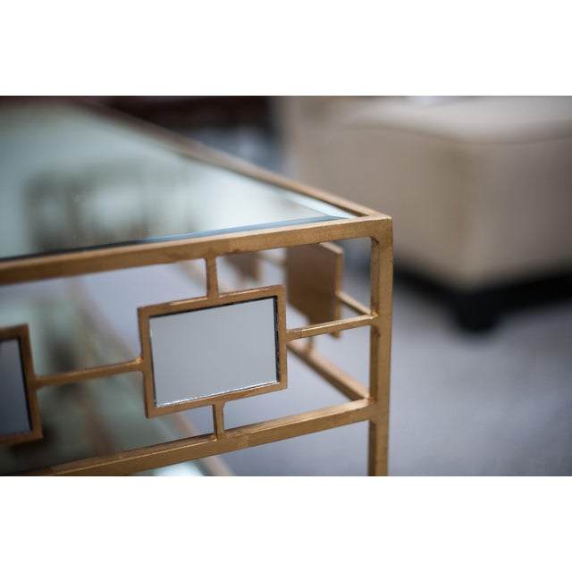 two tiered gold and mirrored coffee table chairish