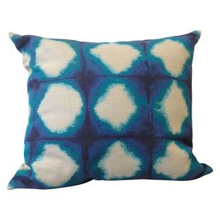 Indigo Square Pattern Pillow