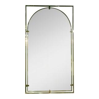 John Stuart Framed Arch Brass Entry Mirror