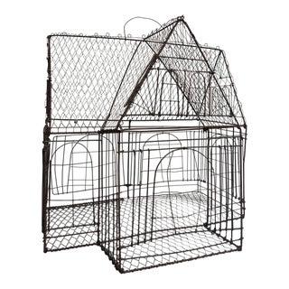 Metal Folk Art Bird Cage