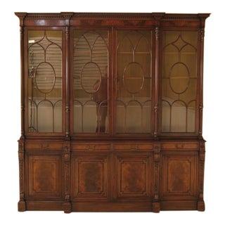 Vintage Mahogany Breakfront Bookcase