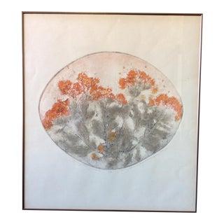 Mary Ann De Buy Wenniger Botanical Collagraph