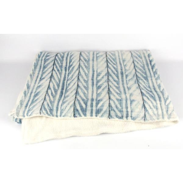 Blue African Mud Cloth Throw Blanket - Image 2 of 6