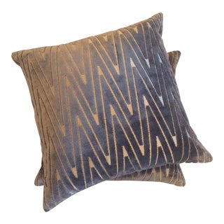 Chevron Throw Pillows - A Pair