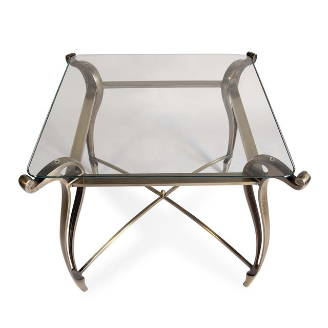 Image of Tapered Bronze Side Table
