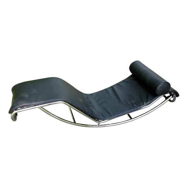 Le corbusier lc4 chaise longue style chair chairish for Chaise le corbusier lc4