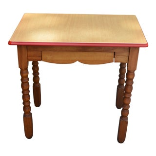 Country Style Enameled Top Table