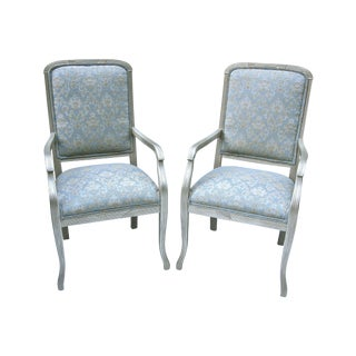 Pale Blue Art Deco Style Chair - A Pair