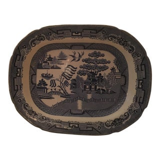 Blue Willow Antique Platter