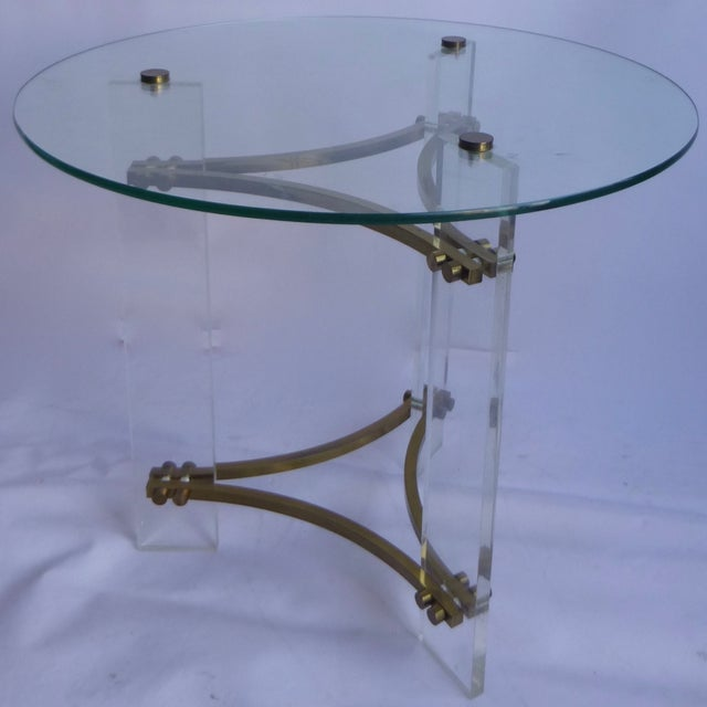 Charles Hollis Jones Lucite Table - Image 6 of 11