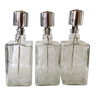 Liquor Bar Decanters - Set of 3